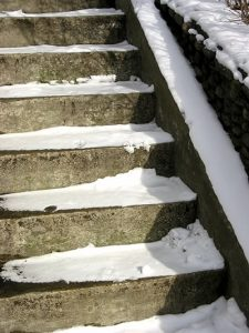 Stairway in winter